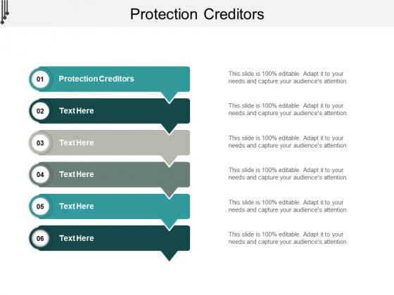 Protection Creditors Ppt PowerPoint Presentation Model Graphics Design Cpb
