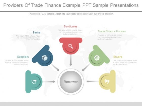 Providers Of Trade Finance Example Ppt Sample Presentations