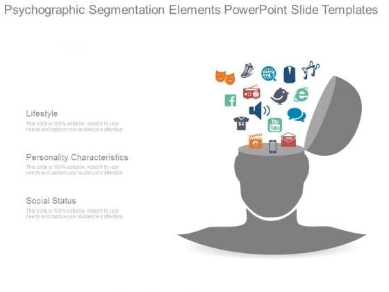 Psychographic Segmentation Elements Powerpoint Slide Templates