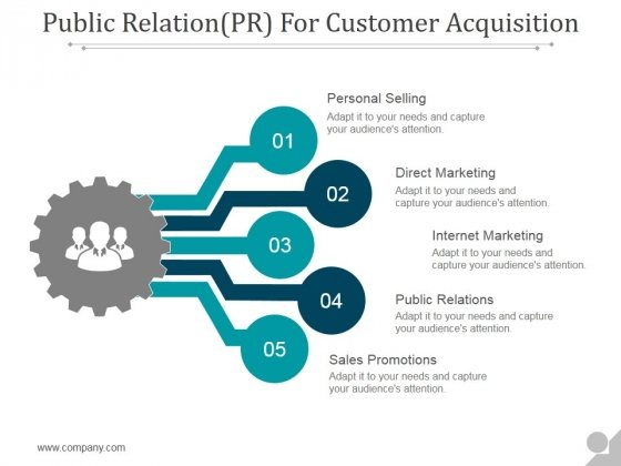 Public Relation For Customer Acquisition Ppt PowerPoint Presentation Slide