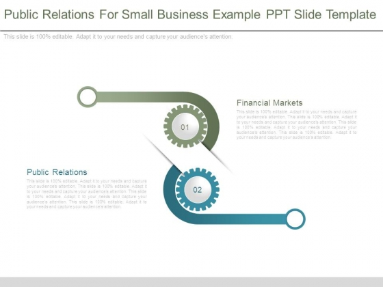 Public Relations For Small Business Example Ppt Slide Template