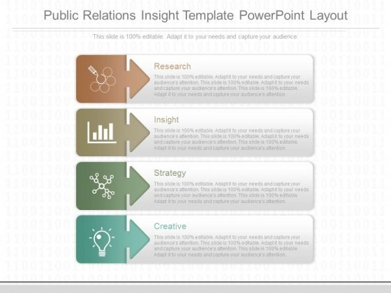Public Relations Insight Template Powerpoint Layout