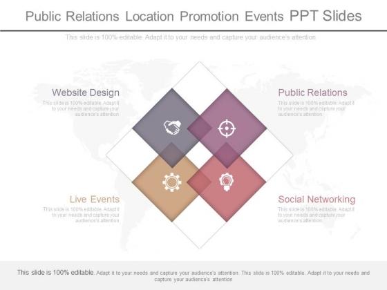 Public Relations Location Promotion Events Ppt Slides