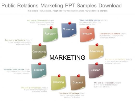 Public Relations Marketing Ppt Samples Download