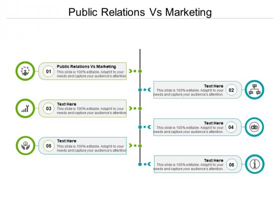 Public Relations Vs Marketing Ppt PowerPoint Presentation Professional Example Cpb