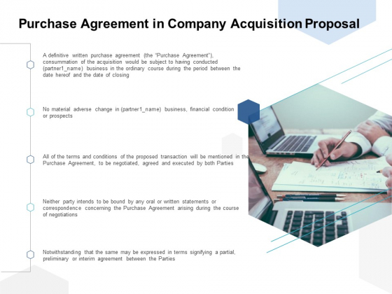 Purchase Agreement In Company Acquisition Proposal Ppt PowerPoint Presentation Infographic Template Picture