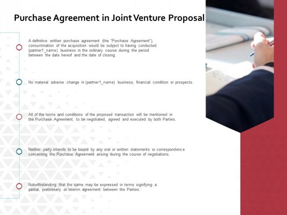 Purchase Agreement In Joint Venture Proposal Ppt PowerPoint Presentation Professional Template