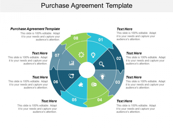 Purchase Agreement Template Ppt PowerPoint Presentation Model Graphics Download Cpb