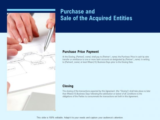 Purchase And Sale Of The Acquired Entities Ppt PowerPoint Presentation File Slideshow