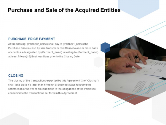 Purchase And Sale Of The Acquired Entities Ppt PowerPoint Presentation Gallery Templates