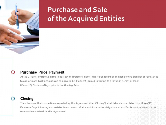 Purchase And Sale Of The Acquired Entities Ppt PowerPoint Presentation Show Summary