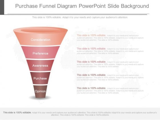 Purchase Funnel Diagram Powerpoint Slide Background