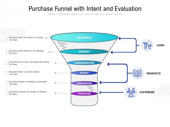 Purchase Funnel With Intent And Evaluation Ppt PowerPoint Presentation Icon Designs Download