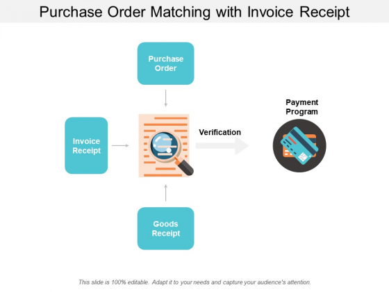Purchase Order Matching With Invoice Receipt Ppt Powerpoint Presentation File Formats