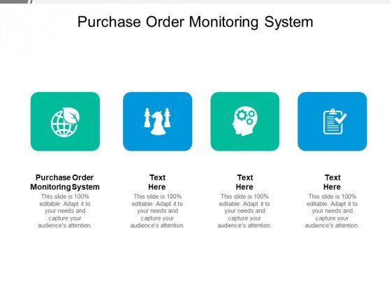 Purchase Order Monitoring System Ppt PowerPoint Presentation Gallery Graphics Pictures Cpb