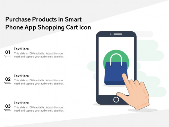 Purchase_Products_In_Smart_Phone_App_Shopping_Cart_Icon_Ppt_PowerPoint_Presentation_File_Outfit_PDF_Slide_1