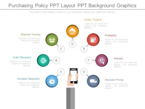 purchasing policy ppt layout ppt background graphics