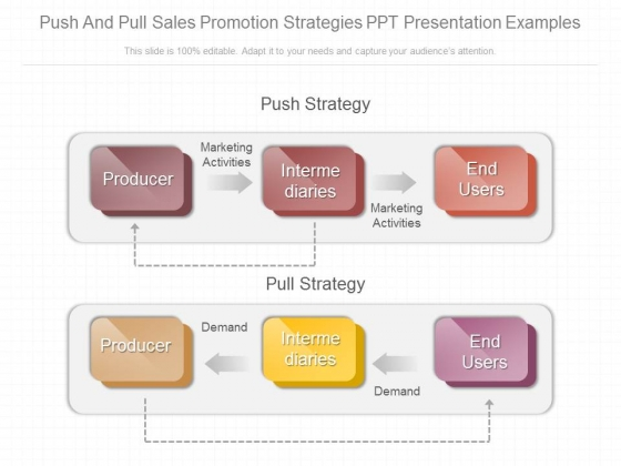 Push And Pull Sales Promotion Strategies Ppt Presentation Examples