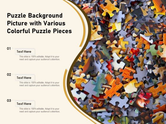 Puzzle Background Picture With Various Colorful Puzzle Pieces Ppt PowerPoint Presentation Professional Layouts PDF