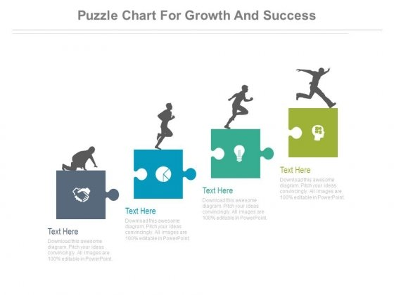 Puzzle Chart For Growth And Success Powerpoint Slides