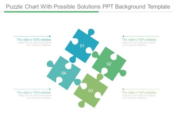 Puzzle Chart With Possible Solutions Ppt Background Template
