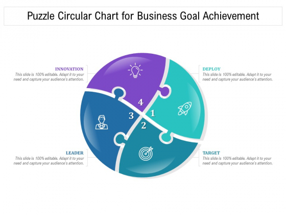 Puzzle Circular Chart For Business Goal Achievement Ppt PowerPoint Presentation Infographic Template Ideas PDF