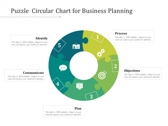 Puzzle Circular Chart For Business Planning Ppt PowerPoint Presentation Model Images PDF