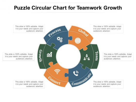 Puzzle Circular Chart For Teamwork Growth Ppt PowerPoint Presentation File Graphics Example PDF