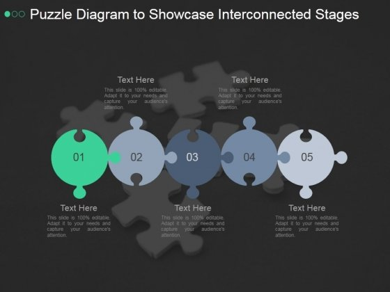 Puzzle Diagram To Showcase Interconnected Stages Ppt PowerPoint Presentation Example 2015