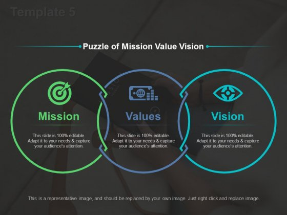 Puzzle Of Mission Value Vision Ppt PowerPoint Presentation Slides Template