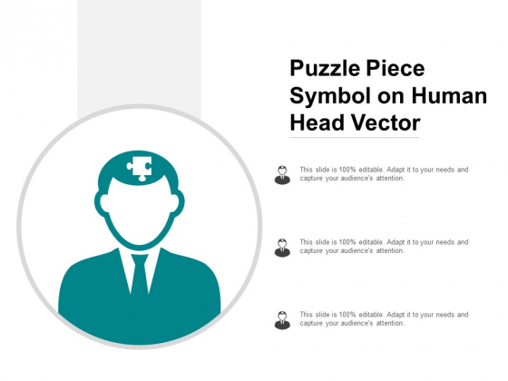 Puzzle Piece Symbol On Human Head Vector Ppt Powerpoint Presentation Styles Icons