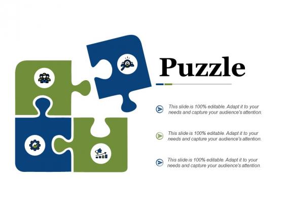 Puzzle Ppt PowerPoint Presentation Portfolio Deck