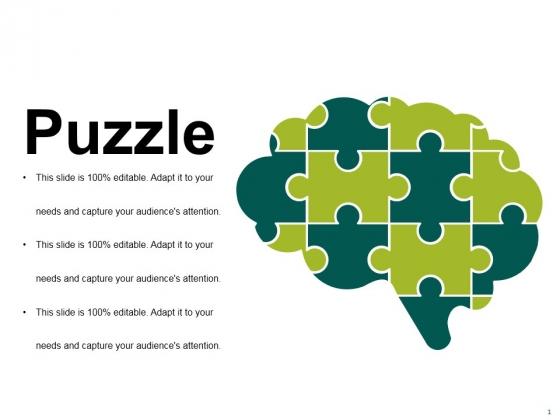 Puzzle Ppt PowerPoint Presentation Portfolio Template
