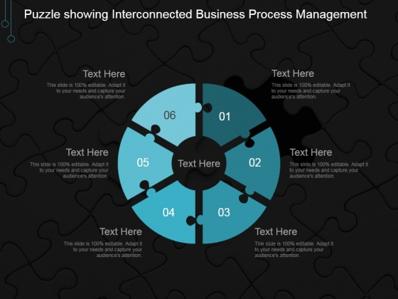 Puzzle Showing Interconnected Business Process Management Ppt PowerPoint Presentation Background Image