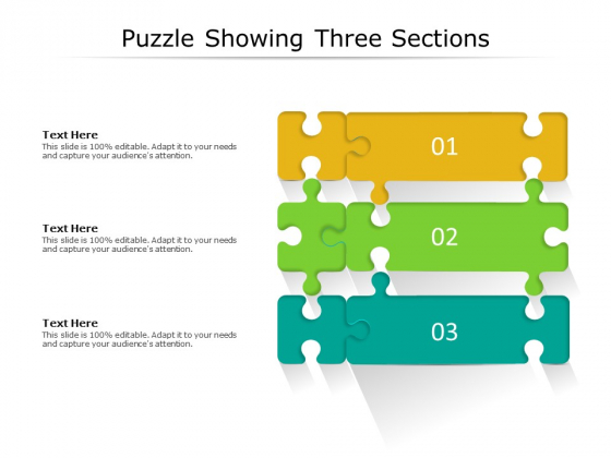 Puzzle Showing Three Sections Ppt PowerPoint Presentation Pictures Example Topics PDF