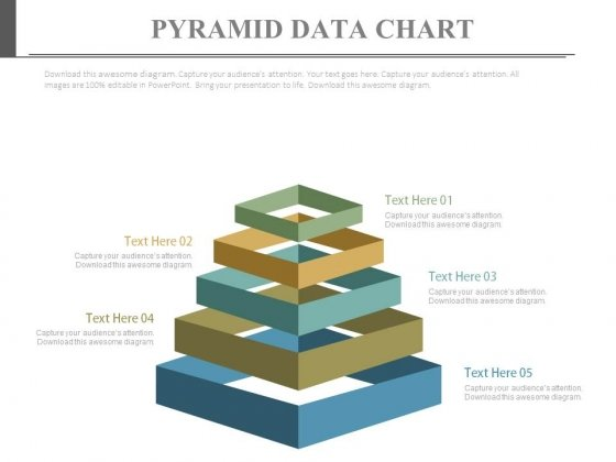 Pyramid For Sales Data Display Powerpoint Slides
