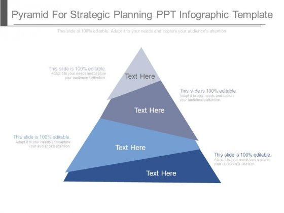 Pyramid For Strategic Planning Ppt Infographic Template
