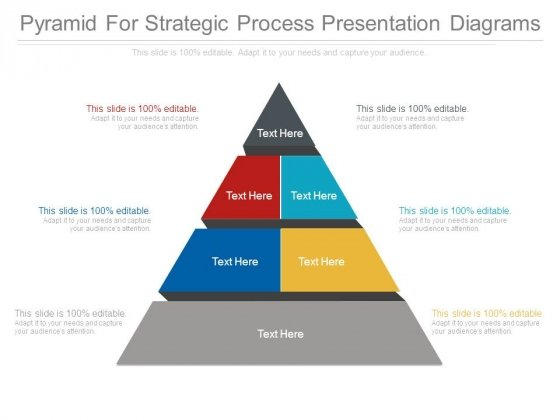 Pyramid For Strategic Process Presentation Diagrams