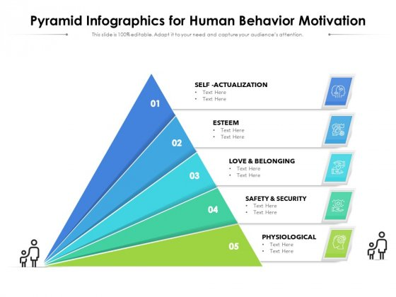 Pyramid Infographics For Human Behavior Motivation Ppt PowerPoint Presentation File Outline PDF