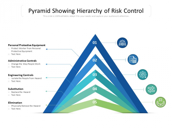 Pyramid Showing Hierarchy Of Risk Control Ppt PowerPoint Presentation Show Examples PDF