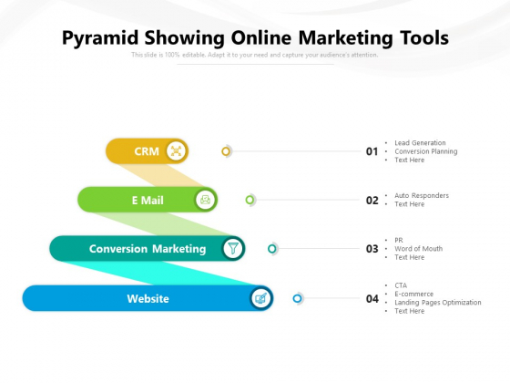 Pyramid Showing Online Marketing Tools Ppt PowerPoint Presentation File Microsoft PDF