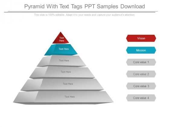 Pyramid With Text Tags Ppt Samples Download