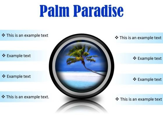 Palm Paradise Beach PowerPoint Presentation Slides Cc