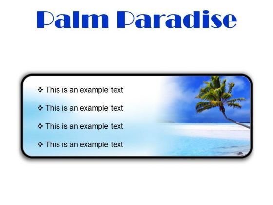 Palm Paradise Beach PowerPoint Presentation Slides R