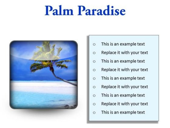 Palm Paradise Beach PowerPoint Presentation Slides S