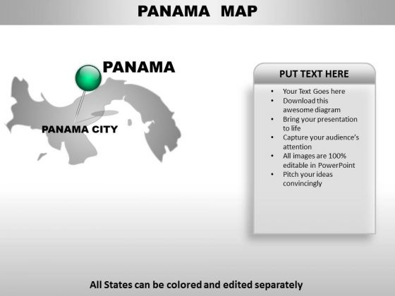 Panama Country PowerPoint Maps