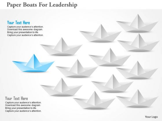 Paper Boats For Leadership PowerPoint Template