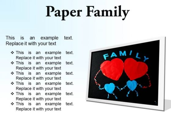 Paper Family Abstract PowerPoint Presentation Slides F