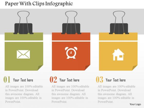 Paper With Clips Infographic Presentation Template