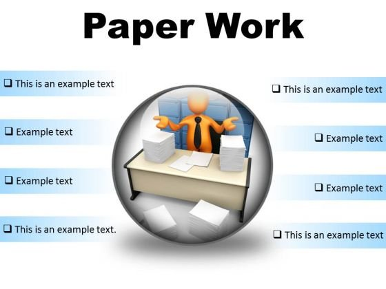 Paperwork Business PowerPoint Presentation Slides C